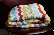 Vintage Inspired Chevron Blanket - Cera Boutique